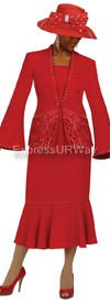 Nubiano N94522 Red - Church Suit