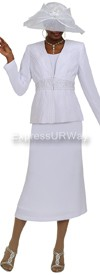 Nubiano N94543 White - Church Suit
