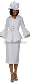 Nubiano N94592 White Church Suit