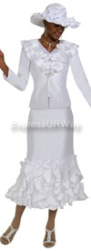 Nubiano N94623 White Church Suit
