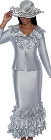 Nubiano N94623-Platinum - Ladies Church Suit