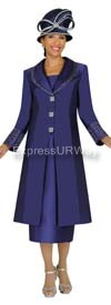 Nubiano N95542 Dark Purple Ladies Church Suit