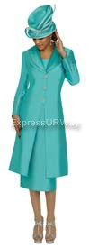 Nubiano N95542 Sea Green Ladies Church Suit