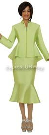 Nubiano N95562 Green Ladies Church Suit