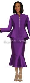 Nubiano N95562 Purple Ladies Church Suit