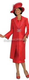 Nubiano N95603 Red Ladies Church Suit