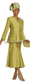 Nubiano N95732 Olive Ladies Church Suit