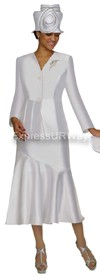 Nubiano N95732 White Ladies Church Suit