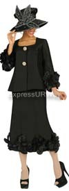 Nubiano N95762 Black Ladies Church Suit