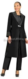 Nubiano N95803 Black Ladies Church Suit