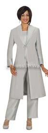 Nubiano N95803 Silver Ladies Church Suit