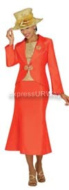 Nubiano N95853 Orange Ladies Church Suit