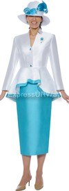 Nubiano N95472-Turquoise - Ladies Church Suit