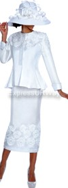 Nubiano N94172-White - Ladies Church Suit