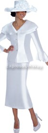 Nubiano N94252-White - Ladies Church Suit