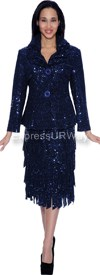 Nubiano N94342-Navy Ladies Church Suit
