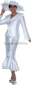 Nubiano N94563-White - Ladies Church Suit