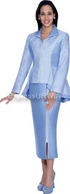 Nubiano N94613-Blue Ladies Church Suit