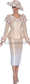 Nubiano N94822-Champagne Ladies Church Suit