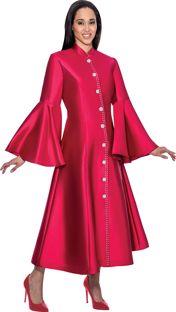 Regal Robes RR9031-Burgundy Church Robe With Flared Sleeves