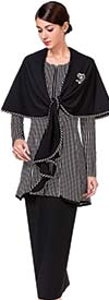 Serafina 3734 Womens Skirt Suit With Shawl