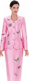 Serafina 3669 Womens Skirt Suit With Beautiful Butterfly Design