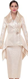 Serafina 3517 Bell Sleeve Church Suit With High Low Style Jacket