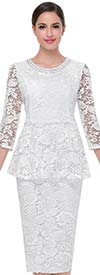 Clearance Serafina 502 Ladies Mesh & Lace Skirt Suit