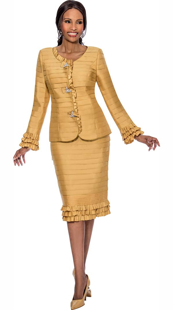 Susanna 3800-Gold - Skirt Suits for Church - Fall 2017 - ExpressURWay