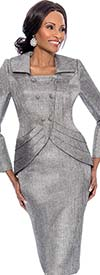 Susanna 3819 - Skirt Suit With Wide Collar Tulip Style Jacket
