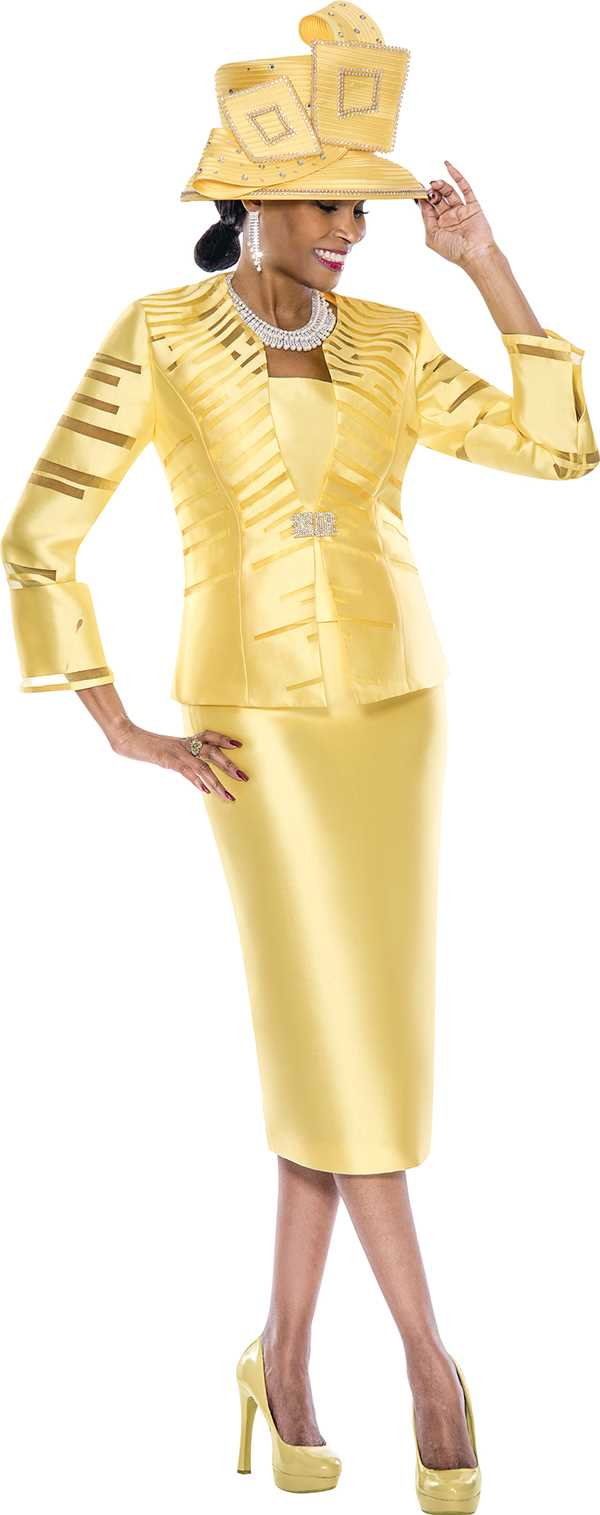 Yellow Skirt Suits 45