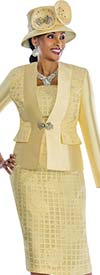 Susanna 3831 - Womens Church Suit With Solid & Pattern Mix Design