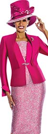 Susanna 3833 - Womens Church Suit With Solid & Pattern Mix Design