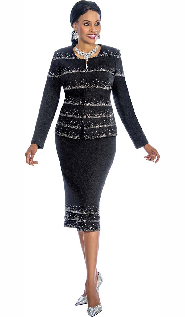 Susanna 3851 - Two Piece Embellished Skirt Suit