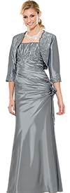 Clearance Annabelle 8220-Silver Evening Wear