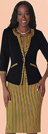 Tally Taylor 9389 Womens Two Piece Stripe Print Dress Suit