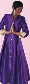 Tally Taylor 4530 One Piece Womens Robe For Church With Rhinestone Buttons