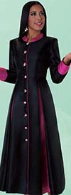 Tally Taylor 4544 Womens Pleated Robe For Church With 9 Buttons
