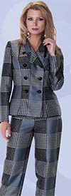 Clearance Tally Taylor 4598 Three Piece Womens Wardrober Set With Multi Plaid Print
