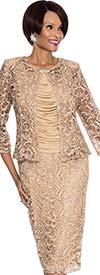 Terramina 7506 Womens Intricate Lace Design Suit