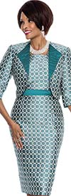 Terramina 7547 Teal Jacket & Dress Set