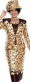 Terramina 7557 Abstract Print Church Suit