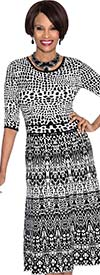 Terramina 7568 Womens Stretch Print Dress
