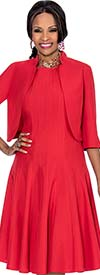 Terramina 7612-Red - Pleated Dress Suit For Women