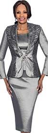 Terramina 7621 Womens Threee Piece Skirt Suit With Ruffle Lapels