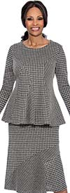 Terramina 7629 Womens Skirt Suit With Houndstooth Pattern