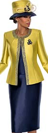 Terramina 7637 Womens Skirt Suit With Jewel Neckline Jacket