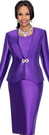 Terramina 7641 Womens Threee Piece Skirt Suit For Church