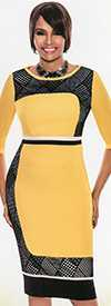 Terramina 7537-Yellow - Church Suit