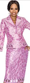 Clearance Terramina 7584-Orchid Embroidered Skirt Suit For Women